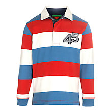 Buy John Lewis Boy Stripe Rugby Top, Blue/Red Online at johnlewis.com