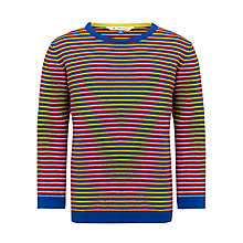 Buy John Lewis Boy Long Sleeve Striped Top, Blue/Multi Online at johnlewis.com