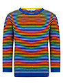 John Lewis Boy Long Sleeve Striped Top, Blue/Multi