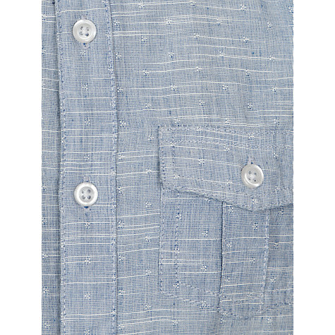 Buy John Lewis Boy Short Sleeve Utility Shirt, Blue Online at johnlewis.com