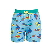Buy John Lewis Boy Tropical Fish Board Shorts, Blue Online at johnlewis.com