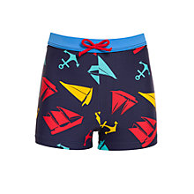 Buy John Lewis Boy Anchor Trunks, Navy Online at johnlewis.com