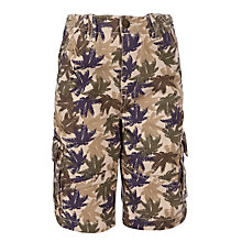 Buy John Lewis Boy Printed Cargo Shorts, Beige Online at johnlewis.com