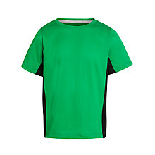 Buy John Lewis Boy Green Side Panel T-Shirt, Green Online at johnlewis.com