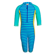 Buy John Lewis Boy Stripe Sun Suit, Green/Blue Online at johnlewis.com