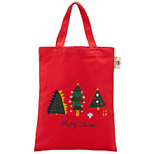 Buy Kids Company Happy Christmas Tree Bag, Red Online at johnlewis.com