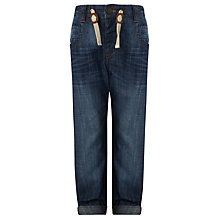 Buy John Lewis Boy Draw Cord Loose-Fit Jeans, Blue Online at johnlewis.com