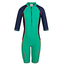 Buy John Lewis Children's Colour Block Surf Suit, Green Online at johnlewis.com