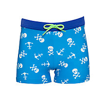 Buy John Lewis Boy Skull Swimming Trunks, Navy Online at johnlewis.com