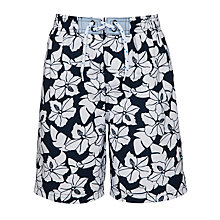 Buy John Lewis Boy Hibiscus Board Shorts, Blue Online at johnlewis.com