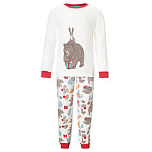 Buy John Lewis The Bear & The Hare Christmas Pyjamas, Cream/Multi Online at johnlewis.com