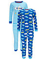 Buy John Lewis Boy Submarine Pyjamas, Pack of 2, Blue/White, 2 years Online at johnlewis.com