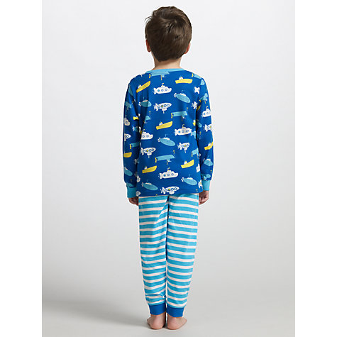 Buy John Lewis Boy Submarine Pyjamas, Pack of 2, Blue/White Online at johnlewis.com