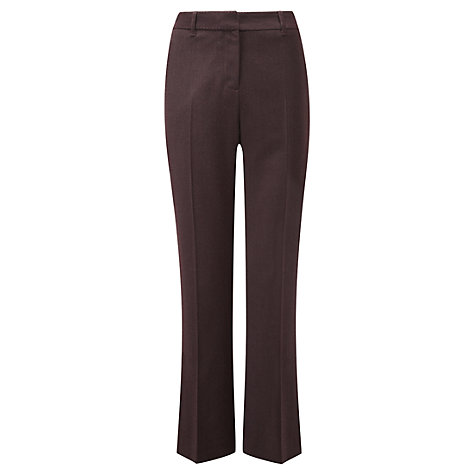 Buy Viyella Wool Blend Trousers, Dark Chianti Online at johnlewis.com