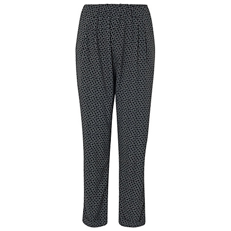 Buy Phase Eight Esther Print Trousers, Black / White Online at johnlewis.com