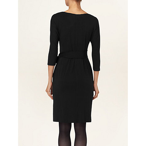 Buy Phase Eight Della Side Tie Dress, Black Online at johnlewis.com