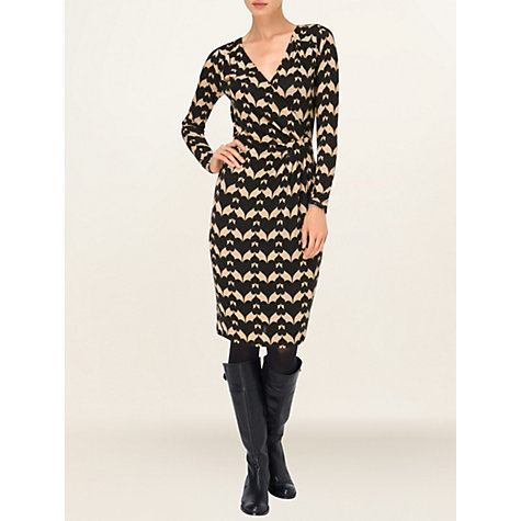 Buy Phase Eight Heart Print Dress, Charcoal / Camel Online at johnlewis.com