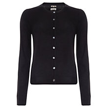 Buy Jigsaw Silk-Blend Cardigan, Black Online at johnlewis.com