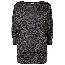 Buy Phase Eight Burnout Dana Top, Grey/Black Online at johnlewis.com