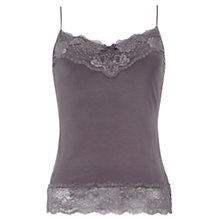 Buy Jigsaw Modal Long Lace Vest, Taupe Online at johnlewis.com