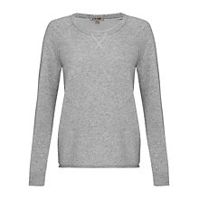 Buy Jigsaw Cashmere Raglan Sweatshirt, Pale Grey Online at johnlewis.com