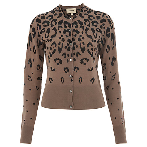 Buy Havren Ocelot Print Cardigan, Latte Online at johnlewis.com
