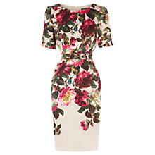 Buy Oasis Natural Winter Rose Dress, Multi Natural Online at johnlewis.com