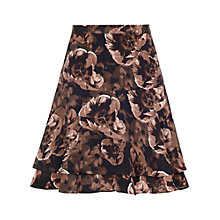 Buy Reiss Anais Floral Print Frill Skirt, Blush Online at johnlewis.com