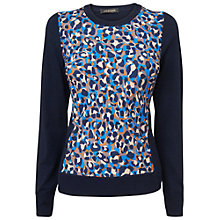 Buy Jaeger Animal Print Sweatshirt, Navy Online at johnlewis.com