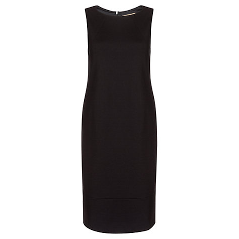 Buy Jigsaw Ponte Tulip Dress, Black Online at johnlewis.com