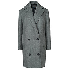 Buy Jaeger Oversized Herringbone Coat, Dark Grey Online at johnlewis.com