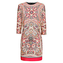 Buy Mango Scarf Print Dress, Medium Pink Online at johnlewis.com