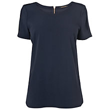 Buy Jaeger Crepe T-Shirt, Navy Online at johnlewis.com