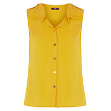Buy Oasis Frill Shirt, Ochre Online at johnlewis.com