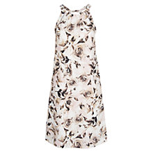 Buy Mango Print Halter Neck Dress, Natural White Online at johnlewis.com
