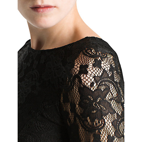 Buy Mango Long Sleeved Lace Dress, Black Online at johnlewis.com