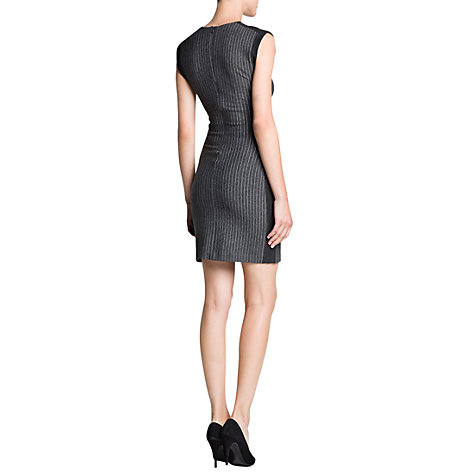 Buy Mango Pinstripe Pencil Dress, Dark Grey Online at johnlewis.com