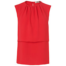 Buy Jaeger Layered Front Blouse, Red Online at johnlewis.com