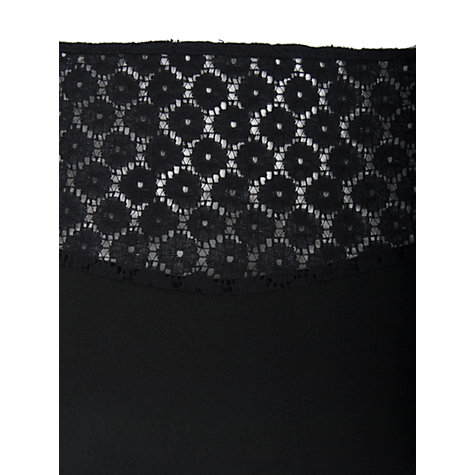 Buy Almari Lace Contrast Dress, Black Online at johnlewis.com