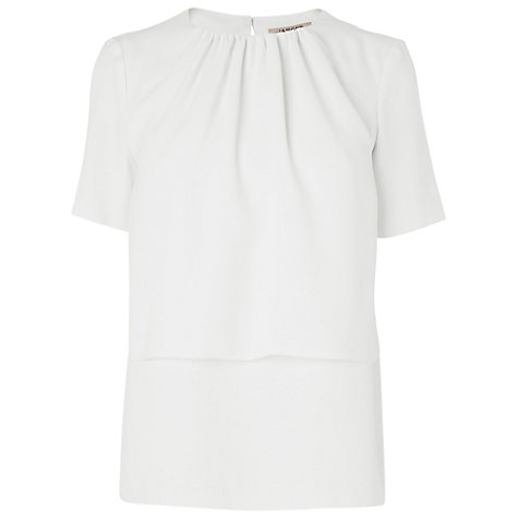 Buy Jaeger Layered Short Sleeve Blouse Online at johnlewis.com
