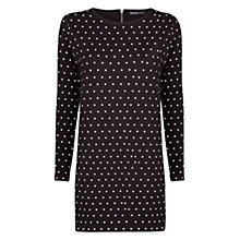 Buy Mango Polka Dot Cotton Dress, Black Online at johnlewis.com