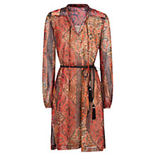 Buy Mango Ethnic Print Dress, Bright Red Online at johnlewis.com