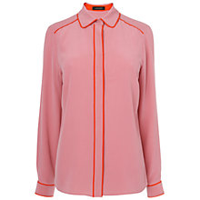Buy Jaeger Contrast Shirt, Pink Online at johnlewis.com