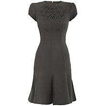 Buy Almari Laser Cut Dress, Khaki Online at johnlewis.com