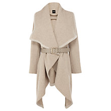 Buy Oasis Mini Textured Drape Coat, Natural Online at johnlewis.com
