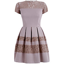 Buy Almari Lace Panel Dress, Taupe Online at johnlewis.com