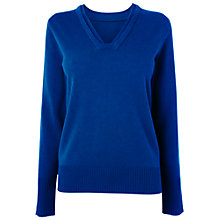 Buy Jaeger Wool Cashmere Sweater, Blue Online at johnlewis.com