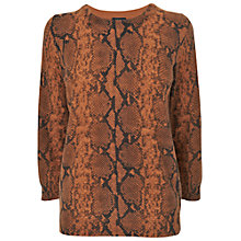 Buy Jaeger Python Sweater, Mid Brown Online at johnlewis.com