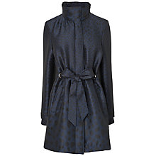 Buy Jaeger Animal Print Coat, Navy Online at johnlewis.com