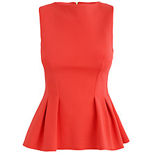 Buy Almari Seam Sleeveless Top, Orange Online at johnlewis.com